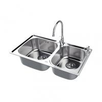 南京美标洁具-厨房水槽 双槽台上厨盆FFASX118