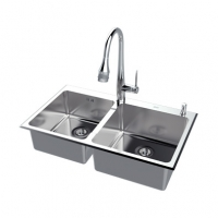 南京美标洁具-厨房水槽 方形台上厨盆FFASX119