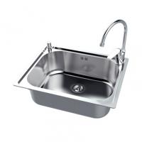 南京美标洁具-厨房水槽 小单槽台上厨盆FFASX115