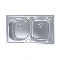 南京美标洁具-厨房水槽 双槽台上厨盆FFASX101