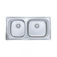 南京美标洁具-厨房水槽 双槽台上厨盆FFASX102