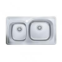 南京美标洁具-厨房水槽 双槽台上厨盆FFASX103