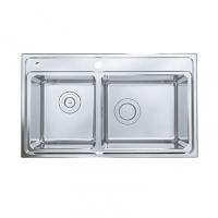 南京美标洁具-厨房水槽方形双槽台上厨盆FFASX104