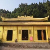 古建寺廟瓦,金色仿古筒瓦,尚典高分子瓦強度高壽命長
