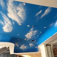 蓝天白云艺术水漆 内墙罩面漆 天花 背景墙艺术涂料 蓝天白云