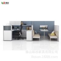 LYSUN琳杉 新款员工屏风卡位 F型办公屏风办公桌台组合厂