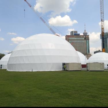 格拉丹云南麗江活動球形篷房 展覽圓形帳篷 定制