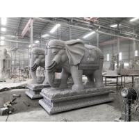 办公大楼石雕大象、石雕大象、石雕六牙象、花岗岩大象