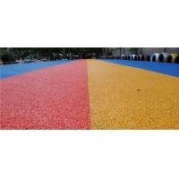 成都市彩色水泥压花地坪报价  透水地坪工厂直销量大从优
