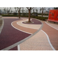 宜宾市彩色水泥压花地坪  透水地坪工厂直销量大从优