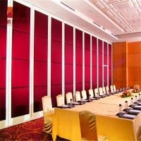 杭州会议室移动隔墙铝合金吊顶隔音活动屏风