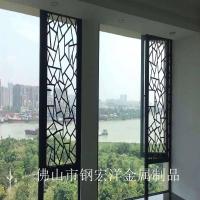 不锈钢屏风镂空隔断铝雕入户玄关酒店装饰工程定制