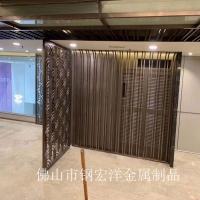 定制屏风不锈钢花格激光镂空铝浮雕入户玄关装饰