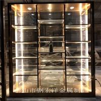佛山定制不锈钢常温酒柜酒架不锈钢恒温酒柜
