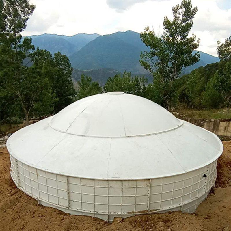 直径8米玻璃钢蓄水池水箱水窖消防水池储罐厂家