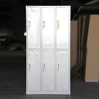 学生宿舍铁皮柜vip生产学校八门铁皮衣柜-实物图片