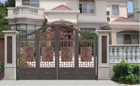 高档铝艺大门护栏 别墅庭院大门护栏价格图片