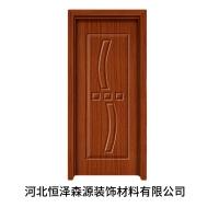 河北石家庄PVC免漆门廉租房回迁楼工程用红花梨简约木门