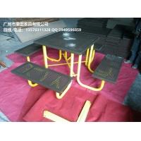 室外连体餐桌椅 不锈钢桌椅 餐桌椅尺寸