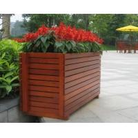 市政府绿化花箱 防腐木花槽 木质花坛