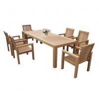 户外家具、高档户外实木桌椅 进口山樟木实木桌椅