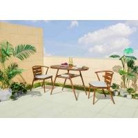 户外休闲桌椅庭院铝木桌椅阳台三件套桌椅