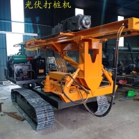 青海光伏發電立柱打樁機光伏電站施工壓樁機