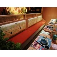 长沙嘟嘟泰国小馆同款卡座沙发餐桌组合宜尚家具定做