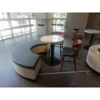 甜品奶茶店餐桌椅 奶茶店公司洽谈仿大理石小圆桌定做