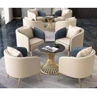 公司接待桌子沙发组合售楼部洽谈软包沙发厂家定做批发