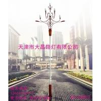 天津大昌路灯直供防水LED玉兰灯8米广场大型景观灯