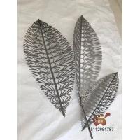 不锈钢树叶雕塑 仿真树叶金属工艺品 室外水池艺术摆件太受欢迎