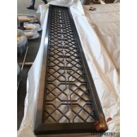 黑金铝板雕刻镂空屏风、双面雕花金属隔断强烈的色泽与质感