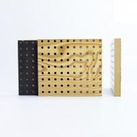 现货定制 穿孔吸音板 防火环保板 孔木吸音板 免费送样
