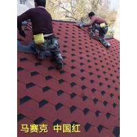 天津油毡瓦天津沥青瓦马赛克中国红屋面防水自粘瓦