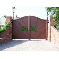 绿夏定制庭院门钢木庭院门门平移门平开门折叠门