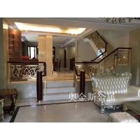 奥金斯西洋化的风格使得铝艺楼梯扶手更加亮丽典雅