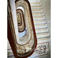 艺术铜铝楼梯雕花护栏豪华别墅楼梯装修的产品