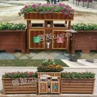 供應護欄垃圾桶花箱 快速安裝防水耐用