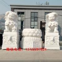 河北汉白玉狮子 石狮子石雕厂家