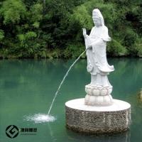 石雕观音菩萨雕像 汉白玉三面观音石雕厂家