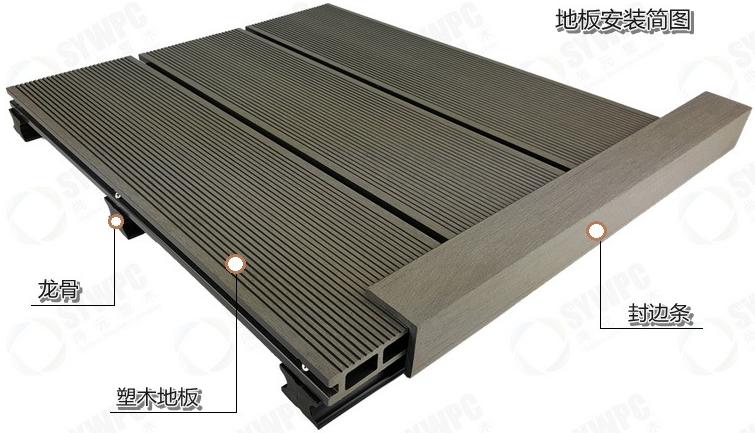 室外仿木地板 防腐地板 人造地板 木塑地板实力商家品质保证