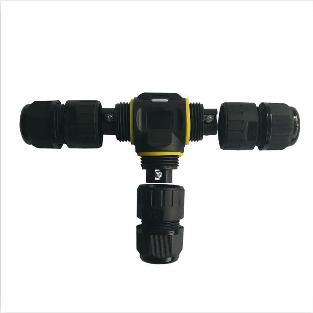 T型三头电流电压防水接头