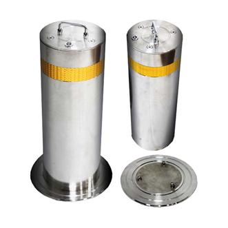 304不锈钢可移动防护路桩,防撞柱安装