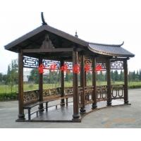 防腐木长廊 古建长廊 广州长廊定制  碳化木长廊