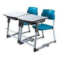 高档学生课桌椅 大学单人课桌椅 双人升降会议桌椅