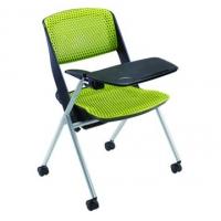 高档塑料靠背培训椅 Mobby进口椅 带写字板会议椅 折叠培
