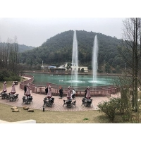 湖南噴泉長沙喜馬拉雅音樂噴泉自行車噴泉
