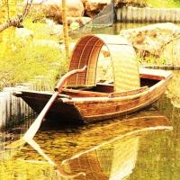 打渔船 乌篷船 老式木船 嘉陵江长江景观木船制作