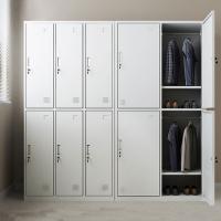 重庆铁皮更衣柜员工柜带锁钢制储物柜浴室健身房柜